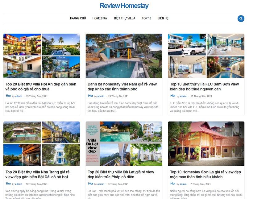Reviewhomestay.vn – Trang web chuyên tin tức, review homestay, tổng hợp du lịch uy tín hàng đầu